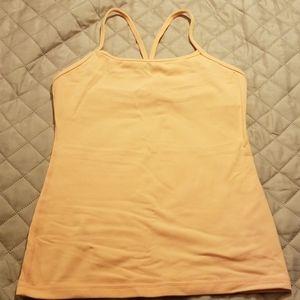 Lululemon light orange tank top bra size 6